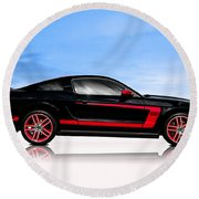 Boss Mustang Round Beach Towel
