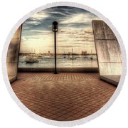Boston - David Von Schlegell - Untiltled Round Beach Towel
