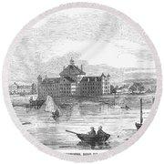 Boston: Almshouse, 1852 Round Beach Towel