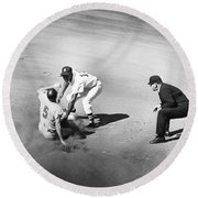 Boston: Baseball Game, 1961 Round Beach Towel