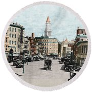 Boston: Bowdoin Square Round Beach Towel