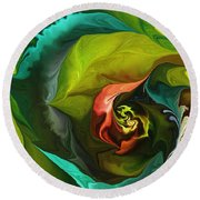 Botanical Fantasy 011512 Round Beach Towel