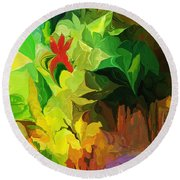 Botanical Fantasy 091612 Round Beach Towel