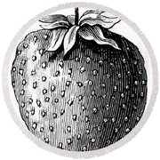 Botany: Strawberry Round Beach Towel