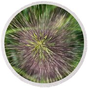Bottle Brush By Nature Round Beach Towel
