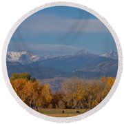 Boulder County Colorado Continental Divide Autumn View Round Beach Towel