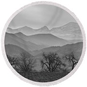 Boulder County Layers Bw Round Beach Towel