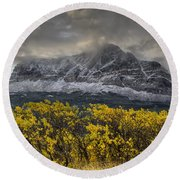 Boulder Ridge Round Beach Towel
