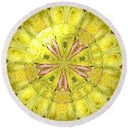 Bouquet Of Roses Kaleidoscope 12 Round Beach Towel