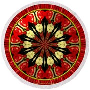Bouquet Of Roses Kaleidoscope 8 Round Beach Towel