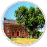 Bowen Plantation House Round Beach Towel by Barry Jones