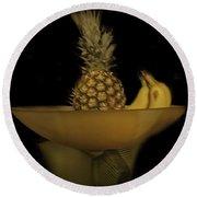 Bowl Of Fruit 1 Round Beach Towel