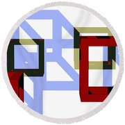 Boxed In Round Beach Towel