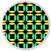 Boxes Round Beach Towel