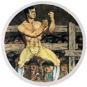 Boxing Champion, 1790s Round Beach Towel