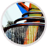 Boyd Plaza Fountain Round Beach Towel