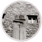 Brancusi The Kiss  Round Beach Towel