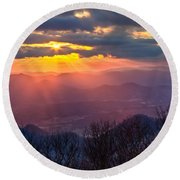 Brasstown Sunset Round Beach Towel