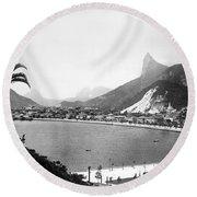 Brazil: Rio De Janeiro Round Beach Towel