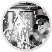 Brazil: Welder, 1961 Round Beach Towel