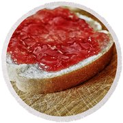 Bread And Jelly Round Beach Towel