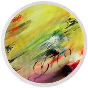 Breaking Away 02 Round Beach Towel