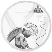 Breaking Tradition Round Beach Towel