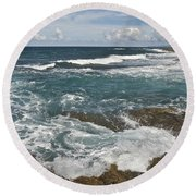 Breaking Waves 7919 Round Beach Towel