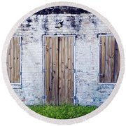 Brick And Wooden Building Round Beach Towel