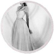 Bridal Gown, 1947 Round Beach Towel