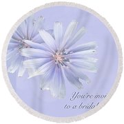 Bridal Shower Invitation - Chicory Wildflower Round Beach Towel