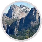 Bridalveil Round Beach Towel