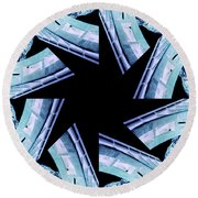 Bridge - Abstract Round Beach Towel