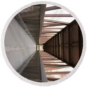 Bridge Abstract Round Beach Towel