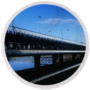 Bridge Across A River, Double-decker Round Beach Towel