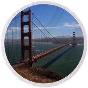 Bridge Of Dreams Round Beach Towel