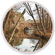 Bridge Reflections Round Beach Towel