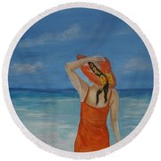 Bright Outlook Round Beach Towel