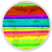 Bright Stripe Round Beach Towel