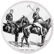 Brighton Polo Club, 1877 Round Beach Towel