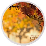Brilliant Autumn Color Round Beach Towel