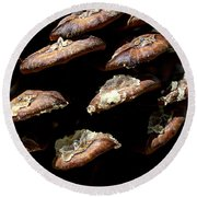 Bristle Pine Cone Round Beach Towel