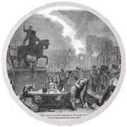 Bristol: Reform Riot, 1831 Round Beach Towel