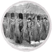 Britain: Fusiliers, 1854 Round Beach Towel