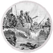 British At Aboukir, 1801 Round Beach Towel