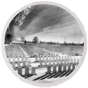 British Cemetery Round Beach Towel