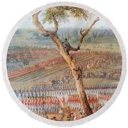 British Troops Surrender At Yorktown Round Beach Towel