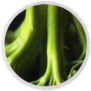 Broccoli Abstract Round Beach Towel