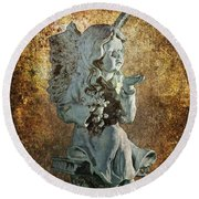 Broken Angel Round Beach Towel