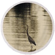 Bronze Lake Round Beach Towel